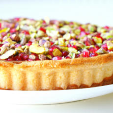树莓开心果白巧克力挞[Raspberry,pistachio & white chocolate tart]